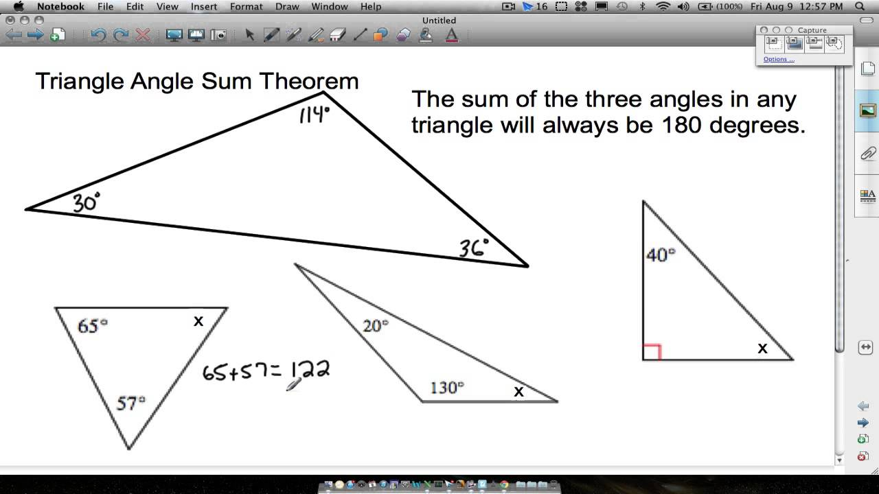 triangle angle sum theorem youtube. Black Bedroom Furniture Sets. Home Design Ideas