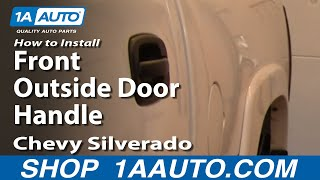 How To Install Replace Broken Front Outside Door Handle