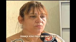 Crian�a de dois anos entra em coma alc�olico depois de beber cacha�a em Governador Valadares