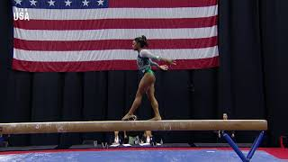 Simone Biles Debuts New Double Double Beam Dismount   Champions Series Presented By Xfinity
