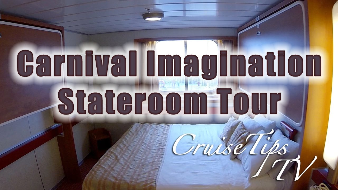 Carnival Imagination Oceanview Stateroom Tour R43 Cruise