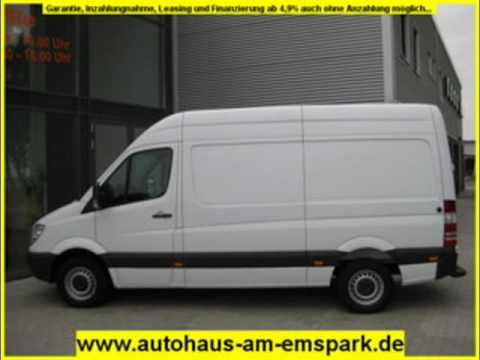 mercedes benz sprinter 209 cdi hochdach m lang weiss youtube. Black Bedroom Furniture Sets. Home Design Ideas