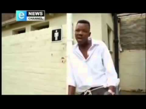 South African student interviewed by local news