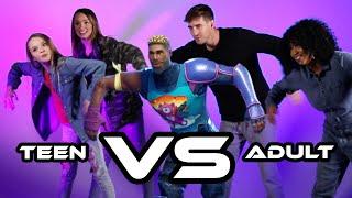 Teen Vs Adult Fortnite Dance Challenge
