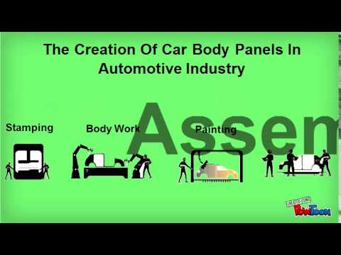 Process Of Creating Car Body Panels In Automotive Industry
