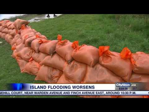 Flooding on Toronto Islands worsens after Thursday's rainfall