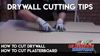How to cut plasterboard