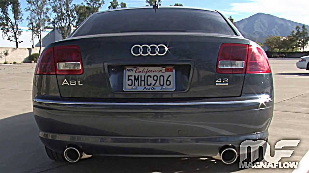 2005 audi a8 quattro magnaflow exhaust part 16492 youtube. Black Bedroom Furniture Sets. Home Design Ideas