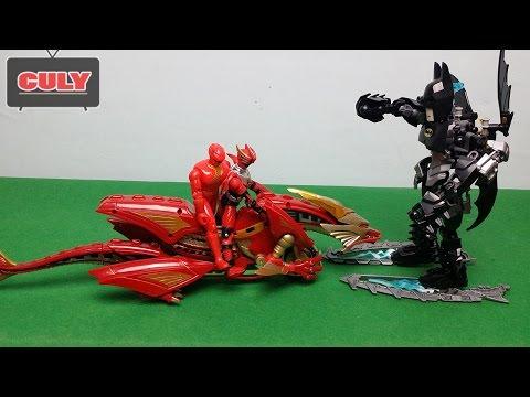 Kỵ sỹ rồng trợ giúp SIÊU NHÂN GAO đánh Super Batman Lego toy for kid   phim hài siêu nhân chế