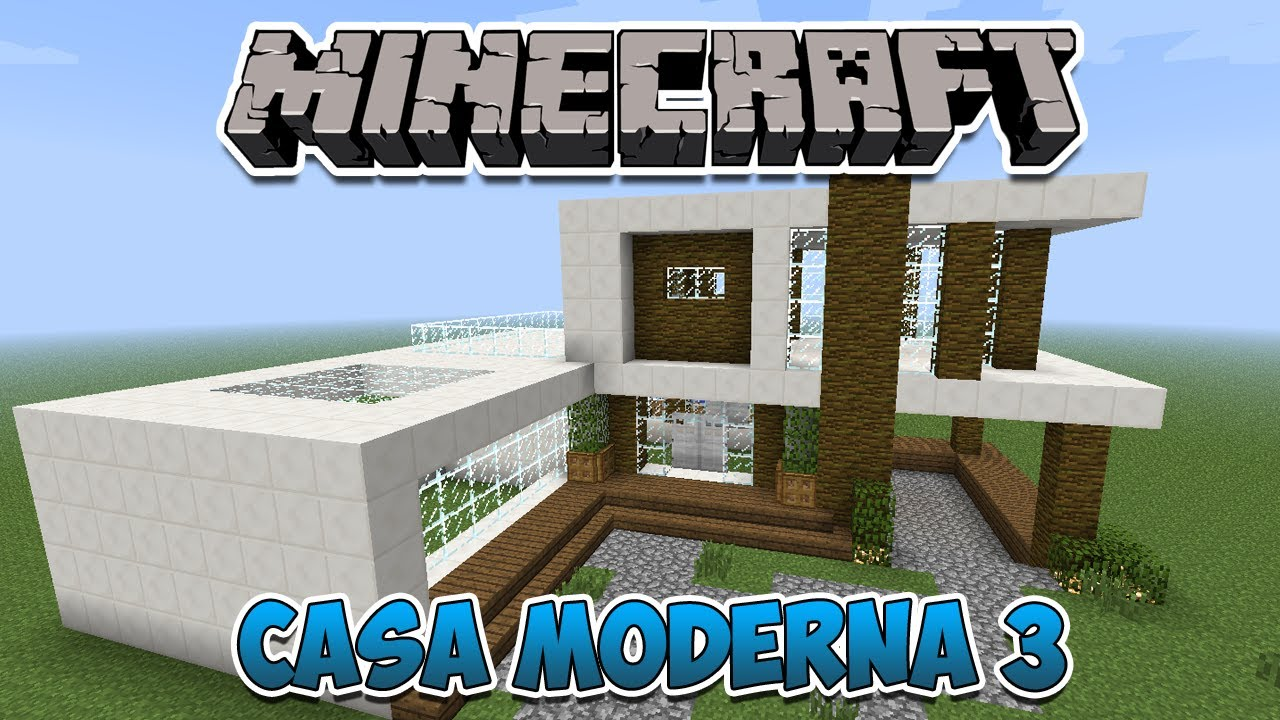 Minecraft construindo uma casa moderna 3 youtube for Casas modernas no minecraft