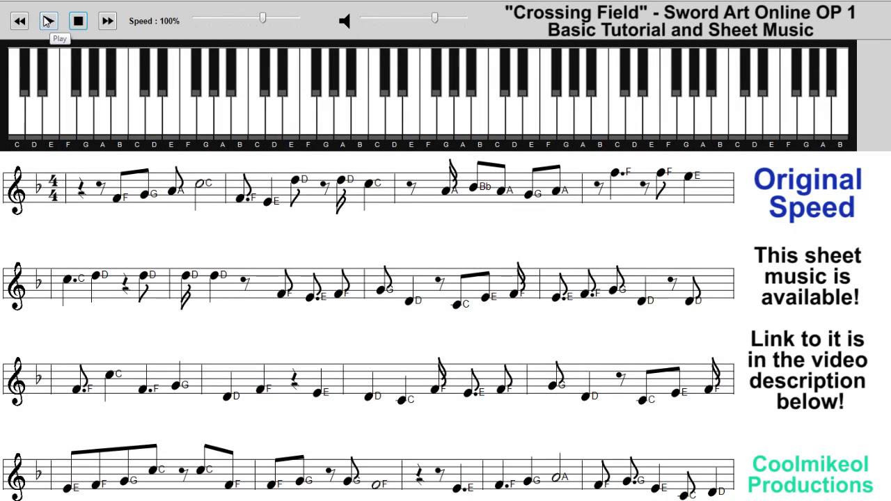 Online piano tutorial popular songs