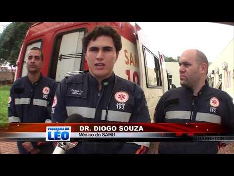 15/03/2019 - Chamado de vítima inconsciente após acidente de moto, mobiliza equipe Avançada do SAMU em Barretos
