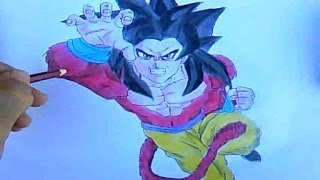 Como Desenhar Goku Super Saiyajin 4 ( Dragon Ball GT