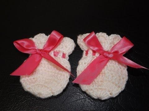 Crochet Guantesitos para Bebe'