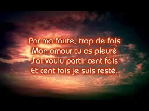Mike Brant - Rien Qu'Une Larme Dans Tes Yeux - Lyrics