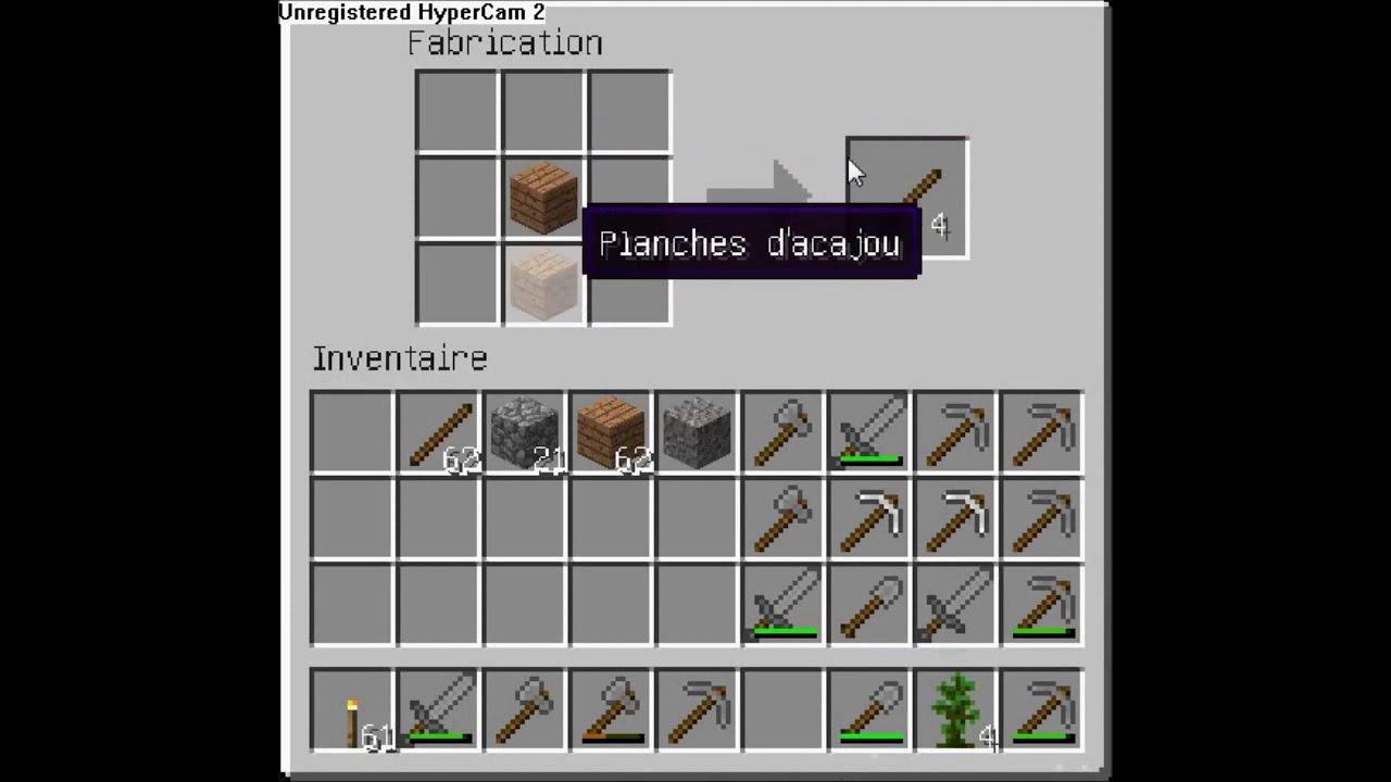 Comment faire une pioche en pierre dans minecraft youtube - Comment faire une chambre moderne minecraft ...
