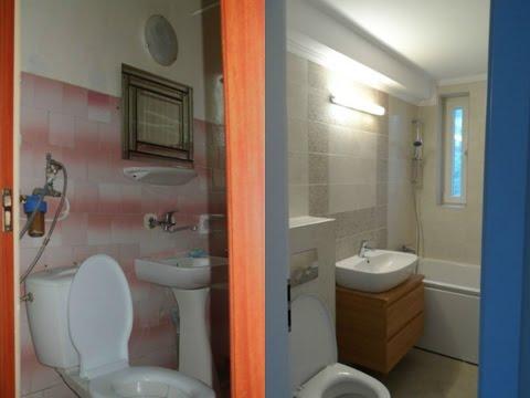 Imagini Baie mica renovata,renovat baie apartament