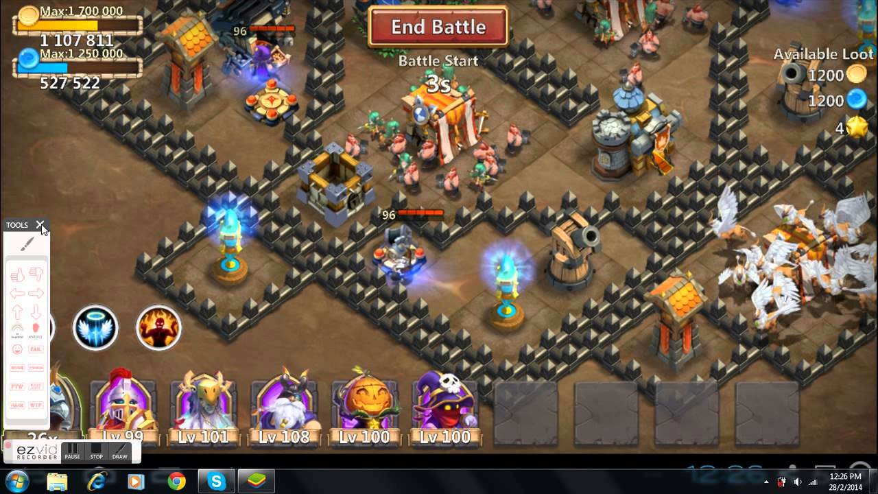 Castle Clash Dungeon 3 Tutorial 7 Shards Farming - YouTube