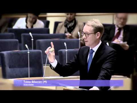 Kommenterad debatt mellan Ekeroth (SD) och Billström (M) om syrisk invandring