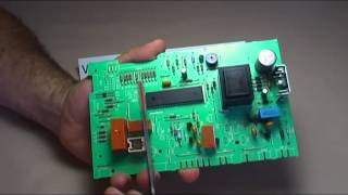 Componentes de una tarjeta/placa de un electrodoméstico