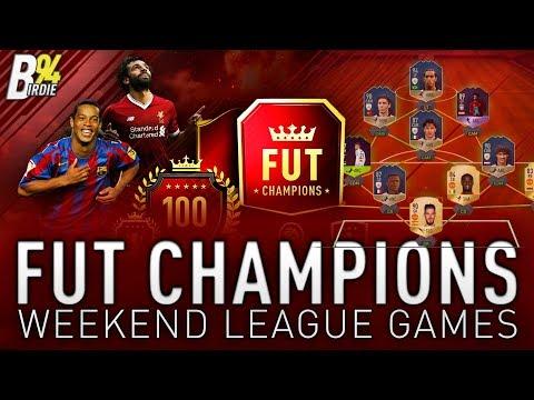 FUT Champions Weekend League Games!!! FIFA 18 LIVE - New FUT Birthday SBC!