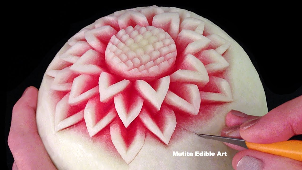 Simple Watermelon Flower Style - Int Lesson 1 By Mutita ...