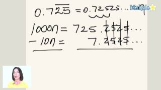 How To Convert Repeating Decimals Into Fractions (ex.3