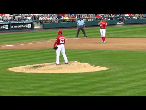 Washington Nationals 9-25-11 7th Inning Rodriguez in Relief