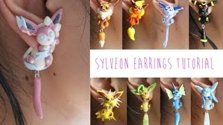 Polymer Clay Pokémon Earrings Tutorial: Sylveon