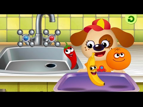 Funny Food - Kindergarten learning games for toddlers | Silhouettes