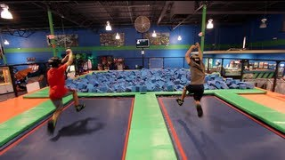 [Parkour Trampoline Dodgeball NInjas] Video