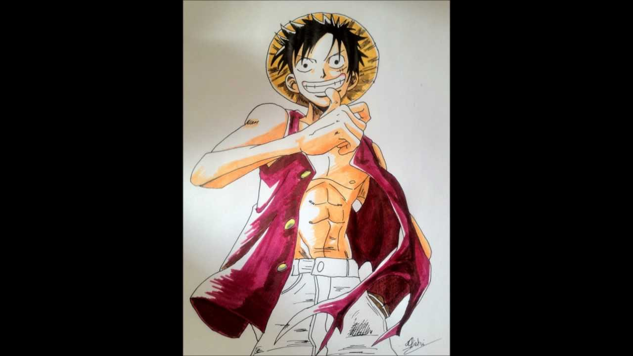 Tuto comment dessiner luffy youtube - Comment dessiner luffy ...