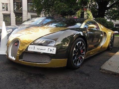 Chrome gold Bugatti Veyron Grand Sport from Saudi-Arabia