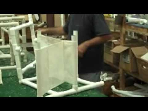 How to assemble a pvc patio chair youtube Pvc pipe outdoor furniture