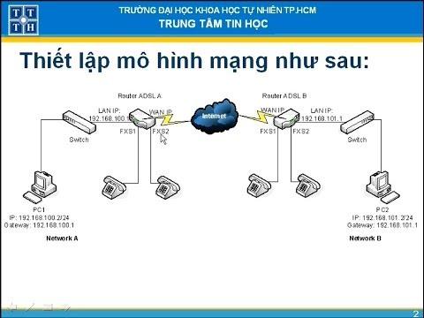 Thiết lập VoIP giữa 2 chi nhánh sử dụng kết nối ADSL