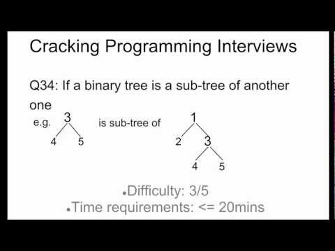 Programming Interview 34: Check if a binary tree is a sub-tree of another (Two cases)