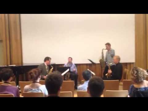 Sax Open July 11 2015 Mike McNamara and one-handed wood winds group performs