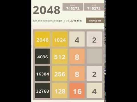 (2048 High Score) 32768+16384+8192 Super Tiles. 763284 points.
