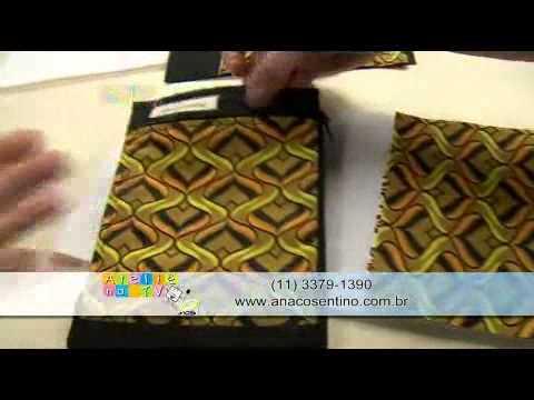 Patchwork com Ana Cosentino: Carteira Porta Passaporte (Programa Ateliê na TV 30/09/2014)