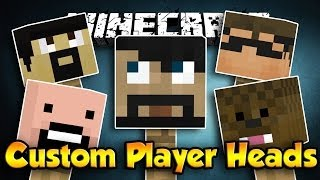 How To Get Custom Player Heads (Minecraft 1.7.10) [No Mods
