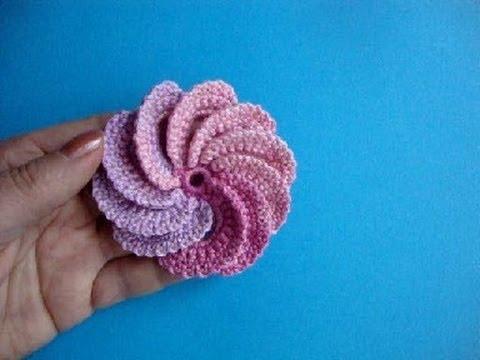 Вязание для начинающих видео крючком цветок