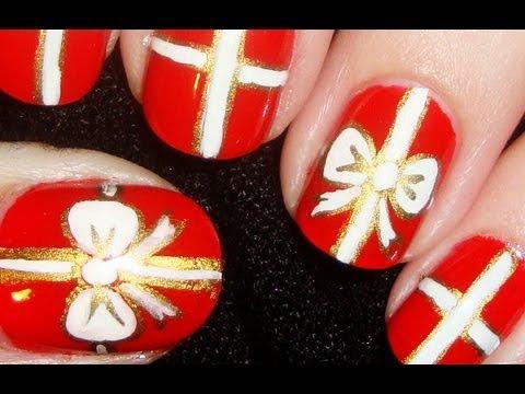 Gift Wrapped Nail Art (Short Nails)