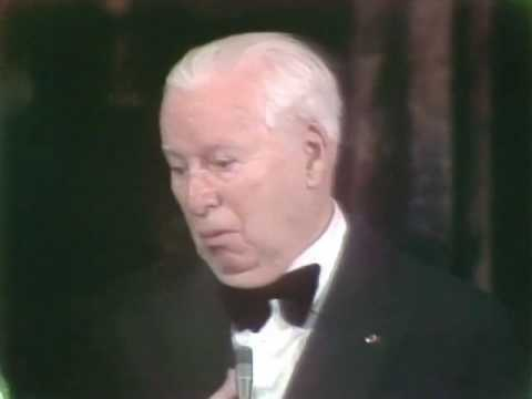 Charlie Chaplin receiving an Honorary Oscar®