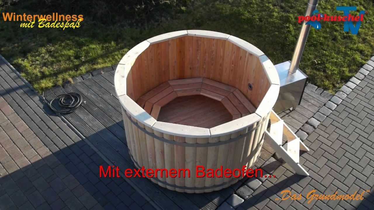 badezuber badefass badetonne hotub youtube. Black Bedroom Furniture Sets. Home Design Ideas