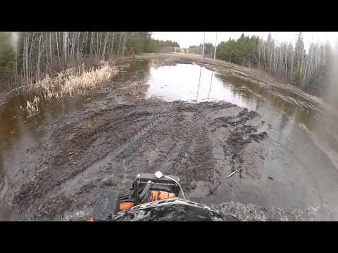 Arctic Cat Mud Pro 700 & 1000 in water