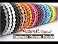 Pulsera Macrame: Espiral // Pulseras de hilo