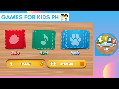 Let's Play Kids Cute Pairs - Matching Game!