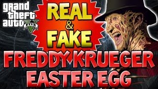 "GTA 5 ""FREDDY KRUEGER"" Easter Egg ""REAL & FAKE"" GTA V"