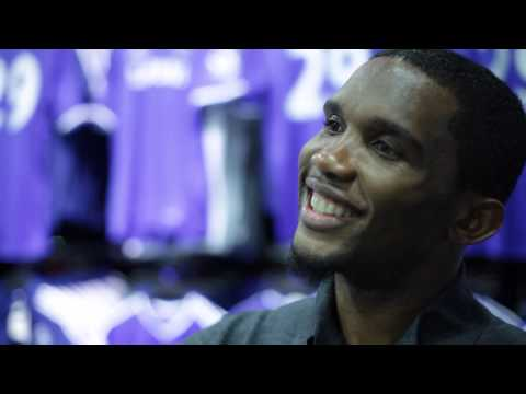 THE SUN INTERVIEW - SAMUEL ETO'O FILS - CHELSEA MEGASTORE -LONDON - 30/10/2013