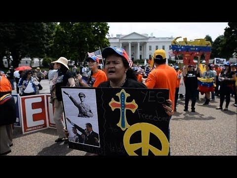 Venezuelans in US demand sanctions against Caracas